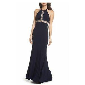 Xscaps Navy Long Night Dress Gown Maxi Size:12